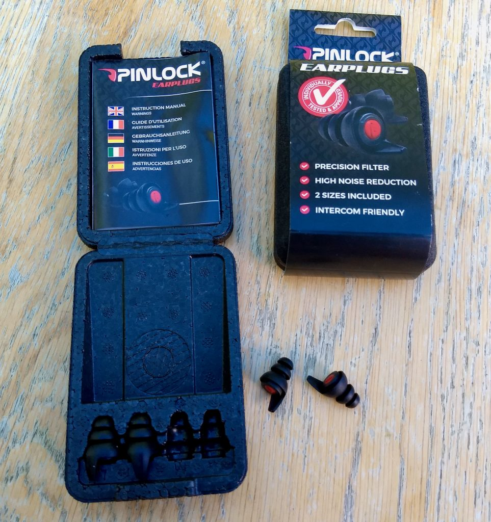 Pinlock Motorcycle ear plugs review